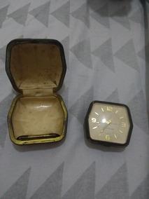 Relógio Westclox Antiquíssimo Com Estojo