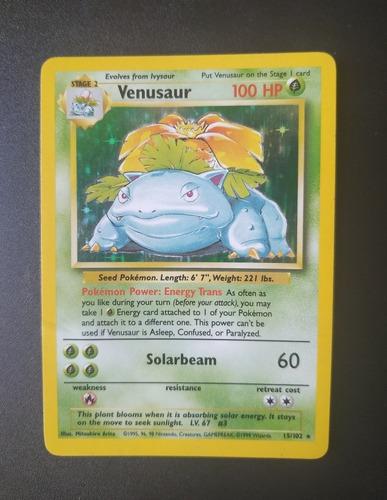 Venusaur Base Set 15/102 - Cartas Pokemon