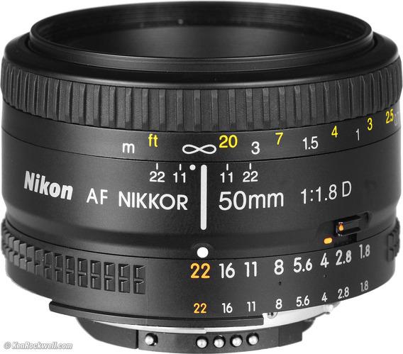 Lente 50mm 1.8 D Nikon