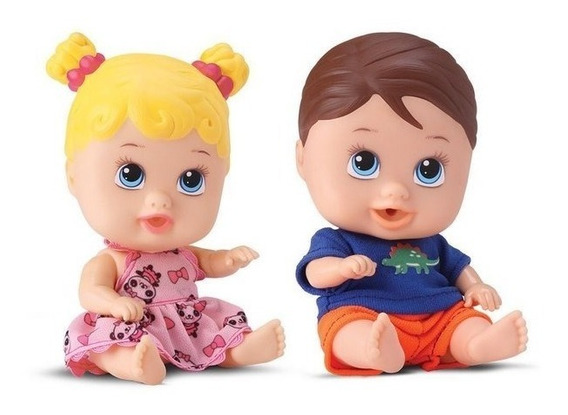 Boneca Little Dolls Gemeos Menina E Menino Alive Divertoys