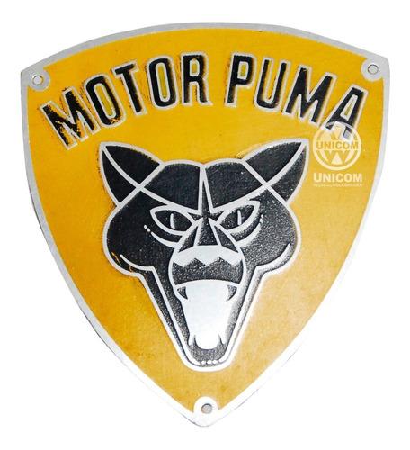 Placa Identificação Orig Motor Puma ( Esmaltado Metalico)