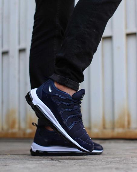 Zapato Deportivo Nike Vapor Max Plus Caballero Negro Azul