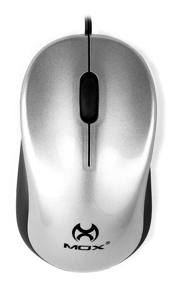 Mouse Usb Mox Ergonômico Conforto Me88 Prata Óptico