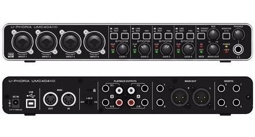 Interface De Audio Behringer U-phoria Umc404 Hd Pré Midas