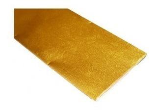 Papel Crepe Metalizado Oro-plata Opaco 50x100 X5 Unidades
