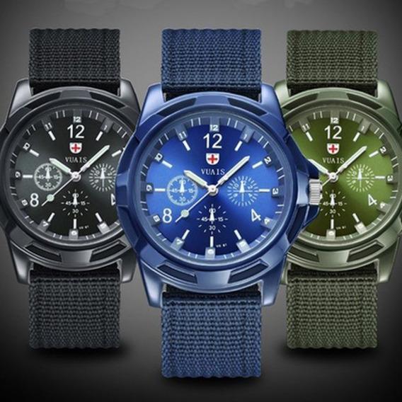 Relógio De Pulso Swiss Army Azul Unisex Exército