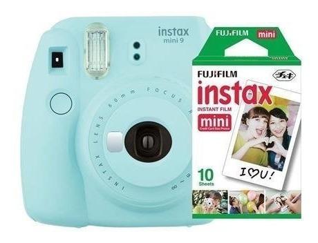 Fujifilm Instax Mini 9 - Foto Instantânea - Azul Aqua + Pack