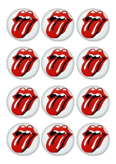 Kit 12 Imas Rolling Stones Cozinha Geladeira