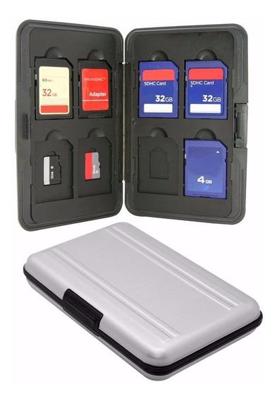 Case De Aluminio Porta Cartão Memória (8x Sd - 8x Micro Sd)