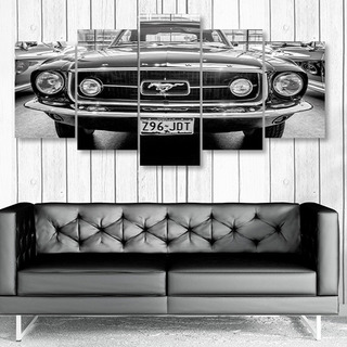 Quadro Decorativo Carro Retro Ford Mustang 1967 Garage Sala