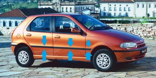 Fiat Palio 5p Baguetas Laterales Molduras Linea 1997 Al 2000