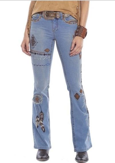 Calça Jeans Feminina Tassa Bordada N 34 Última Peça Promoção