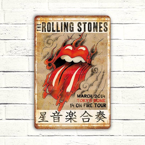 Cartel De Chapa Original Rolling Stones
