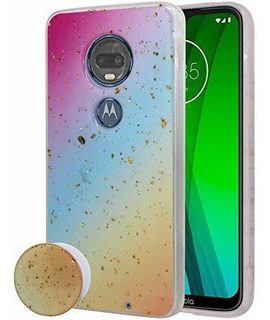 Estuche Magic Sparkle Stand Para . Moto G7 Power