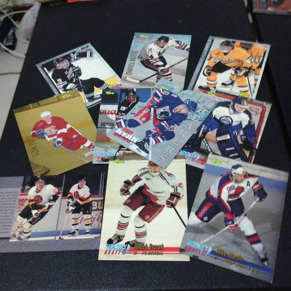 10 Cards Usados De Hockey Diversos