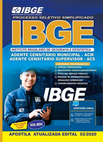 Apostila Ibge 2020 Agente Censitário Municipal E Supervisor