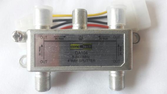 Divisor De Alta Frequência 4 Saídas 2400mhz Da104 Conetech