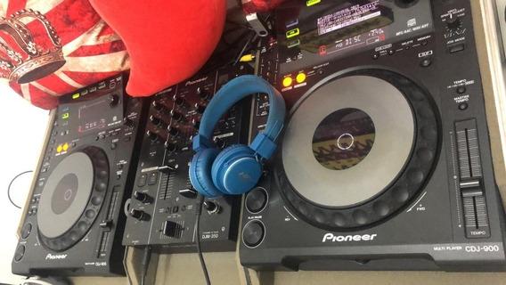 Par Cdj 900 + Mixer 350 Com Case