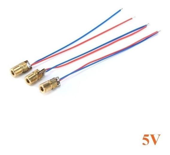 10x Diodo Laser 5mw - 5 Volts 6mm Vermelho (650nm) - 10 Peças - Nota Fiscal