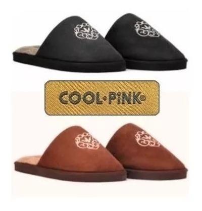 Pantuflas Hombre Escudo Charles Invierno Cool Pink Negro