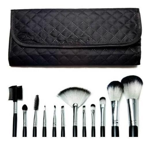 Kit Pincel Macrilan 12-unidades Profissional (r&r Make Up)