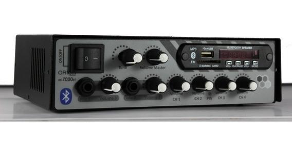 Amplificador Mesa Mixer 500 Watts 4 Canal Som Igreja Casa