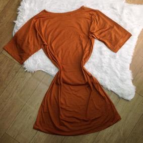 Camisa Longa Mini Vestido Estilo Comprido Blusão + Brinde67