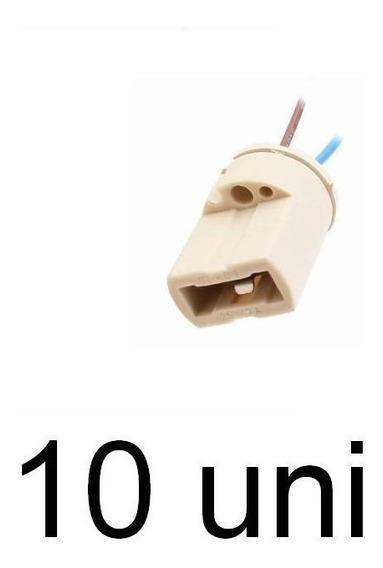 10 Soquete Para Lampada G9 Halopin Com Rabicho