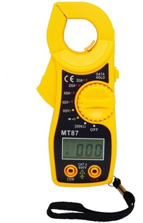Alicate Amperímetro Digital Profissional Ac Dc C/ Cabo Multi