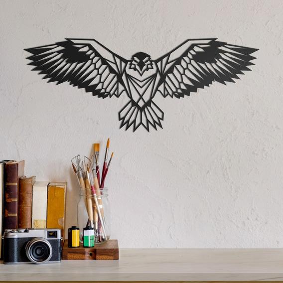 Quadro Decorativo Parede Animal Águia Minimalista 01 30cm