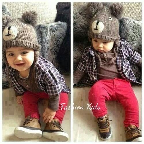 Calça Jeans Colorida Vermelha Bebê Menino Estilosa