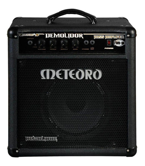 Amplificador Meteoro Demolidor FWB-50 Transistor 50W preto 127V/220V