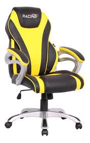Cadeira Gamer Suzuka Preta E Amarela