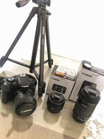 Canon T3i + Lentes + Acessórios