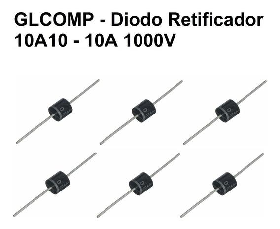 10a10 Diodo Retificador 10a10 - 10a 1000v - 10 Peças