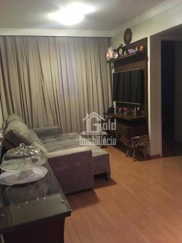 Apartamento Com 2 Dormitórios À Venda, 55 M² Por R$ 170.000 - Parque Industrial Lagoinha - Ribeirão Preto/sp - Ap3124