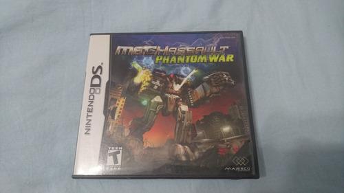 Nintendo Ds Mechwarrior Mechassault:phantom War