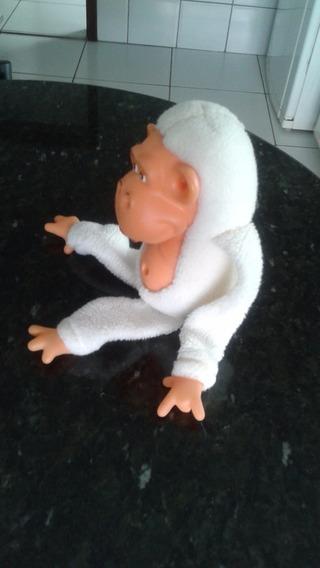 Macaco De Pelúcia Branco 30 Cm