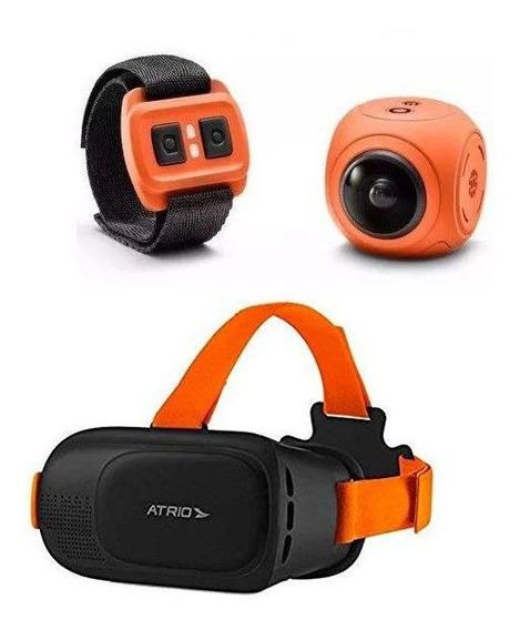 Câmera De Ação Panorâmica X-pheral Wi-fi Com Óculos Vr Atrio Es187