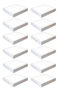 Panel Led 18w Cuadrado Exterior Bajo Consum Pack 12 Unidades