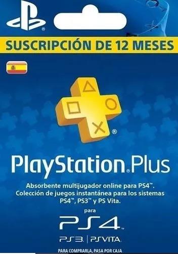Tarjeta De Suscripción Play Station Plus 12 Meses
