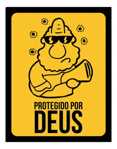 Placa Decorativa Nerd Geek Protegido Por Deus