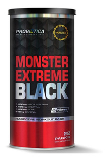 Pak Monster Extreme Black - 22 Packs - Probiótica - Original