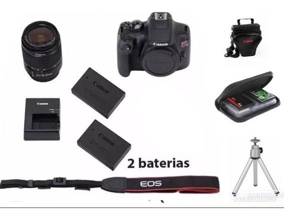 Câmera Cânon T7i C/ 18-55+64g+bolsa+tripé+ 1 Bateria Reserva