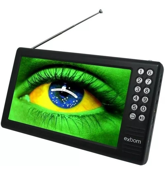 Mini Tv Digital Portátil Hd Tela 7.0 Usb Rádio Fm Monitor+nf