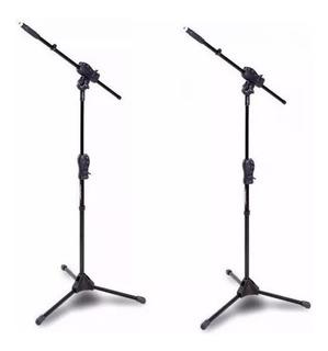 2 Pedestais Girafa Suporte Microfone Smmax Ibox