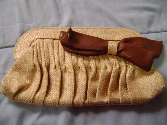 Bolsa De Mão Em Tecido E Laço Corvin