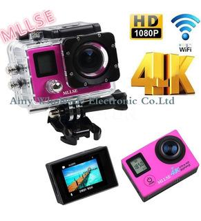 Cámara De Vídeo 4 K Wifi Ultra Hd 1080 P 30fps 170d Impermea