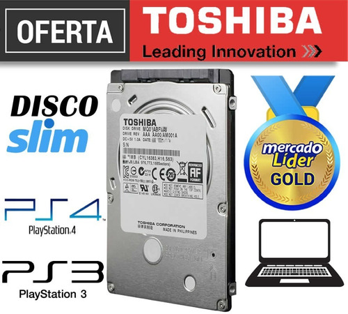 Disco Duro Toshiba 2.5 1tb Laptop Ps3 Ps4 Nuevo Inc Iva