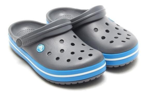 Crocs Crocband Originales -charcoal Ocean-